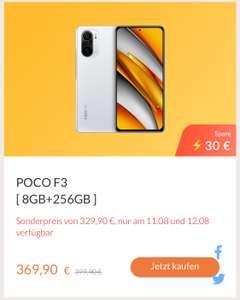 [Alle Farben] POCO F3 8GB+256GB + gratis Rucksack für 329,90€ (299,90€ mit Mi Points-Gutschein) in der Mi Store App