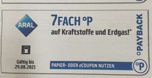 ARAL Payback 7FACH Coupons 2x