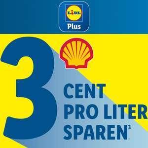 3 Cent pro Liter sparen bei Shell mit Lidl Plus (max. 70 Liter) - ab 16.08.