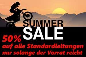 Motorrad 50% Rabatt auf alle Stahlflex Bremsleitungen