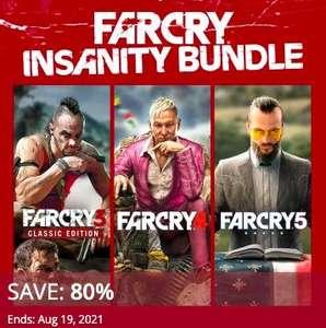 PSN - Far Cry Insanity Bundle (beinhaltet Far Cry 3 + 4 + 5; Playstation 4) zum Bestpreis von 15,15 € im US-Store (16,31€ - CA) - kein VPN