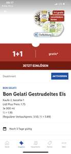 Bon Gelati Eis bei Lidl (2 für 1) -Lidl Plus App