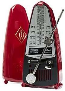 Wittner Taktell Piccolo Metronom, mechanisch zum Aufziehen, Kunststoffgehäuse ohne Glocke, Farbe rubinrot [Amazon]