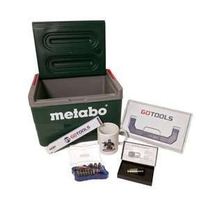 GOTOOLS: Sommerset mit Metabo Kühlbox,Ledlenser Automative, GT Bit Set,Zollstock und Kaffeetasse sowie L-Boxx Mini