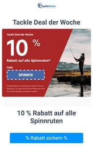 Angeln Tacke-Deals 10% auf alle Spinnrute auch auf sale