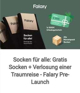 Gratis Socken von Falary durch Registrierung
