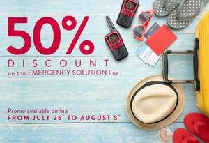 50% auf Emergency Solution bei Midlandeurope.com (ITALIEN) ER200 Radio / ER300 Radio / XT30 Walkie Talkie Funkgeräte