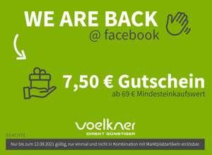 Voelkner 7,50€ Gutschein MBW 69€ gültig bis 12.8.21