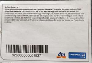DM Payback Coupon TENA Produkte 80 Extra-Punkte
