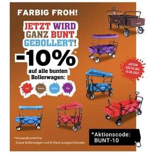 Fuxtec -10% auf alle bunten Bollerwagen