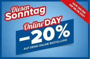 [ Hervis ] Online Day am morgigen Sonntag ( 08.08. ) / -20% auf das Sortiment*