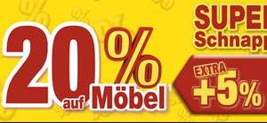 Super Schnapptage bei POCO - 20% auf Möbel + 5% bei Selbstabholung [z.B. Gaming Stuhl]