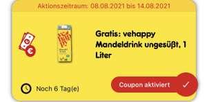 Netto App vehappy Mandeldrink und Soja Drink Gratis