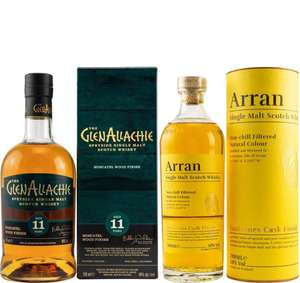 Whisky-Übersicht #101: z.B. GlenAllachie 11 Moscatel Wood Finish für 53,90€, Arran Sauternes Cask Finish für 38,90€ inkl. Versand