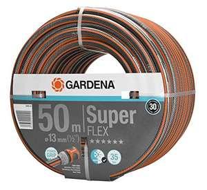 [ amazon ] Gardena Premium SuperFLEX Schlauch 13 mm (1/2 Zoll), 50 m: Gartenschlauch, 35 bar Berstdruck, hochflexibel 18099-20