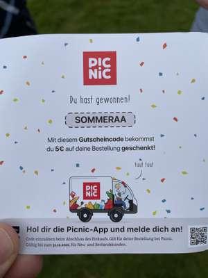 [Lokal - Ruhrgebiet] Picnic - 5€ auf eine Bestellung