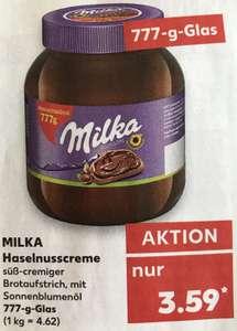 [Kaufland] Milka Haselnusscreme 777g Vorratsglas für 3,59€