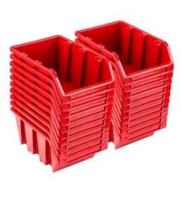 Set 20 x Stapelboxen NP10 rot Lagerboxen Sortierboxen Sichtlagerboxen