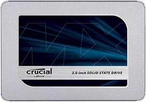 "Crucial MX500 500GB (interne SSD, 2.5"", SATA, 3D-NAND TLC, R560, W510, 512MB DRAM Cache, 180TBW/5J Garantie)"