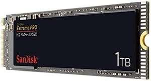 SanDisk Extreme PRO M.2 NVMe 3D SSD 1 TB interne SSD (Lebensdauer von bis zu 600 TBW, 3D-NAND-Technologie, 3.400 MB/s