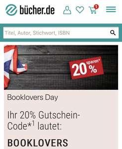 [buecher.de] 20% Rabatt auf englischsprachige Bücher