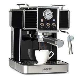 10% Rabatt - Klarstein Gusto Classico Espressomaker Espressomaschine Siebträgermaschine, Kaffeemaschine 1350 W, 20 Bar Druck