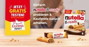 Nutella B-ready Gratis Testen 100% Geld zurück (GZG)