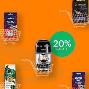 20% Rabatt auf Kaffee + Kaffeemaschinen
