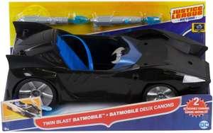 Mattel Batman FDF02-DC Justice League Doppelblaster-Batmobil, 30 cm für 13,60€ (Müller Abholung)