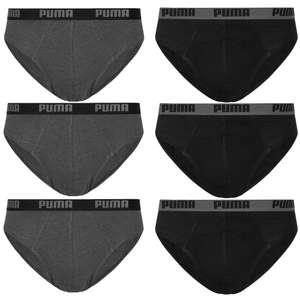 Puma Basic Brief Herren Slip 6er-Pack (Größen S bis XL)