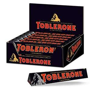 """Amazon: Toblerone """"Dark"""" 20Stück mit jeweils 100 Gramm, damit rund 80 Cent das Stück"""