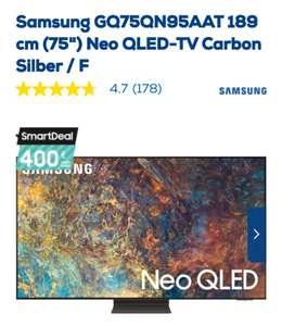 (abzgl. Cashback für 2595 €) Samsung GQ75QN95A Neo QLED-TV