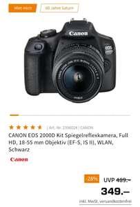 CANON EOS 2000D mit Kitobjektiv für 349€