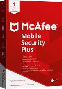 1 Jahr VPN mit McAfee Mobile Security Plus für Android & iOS Geräte 1 Gerät (nur 9,45€ bei Otto Lieferflat)