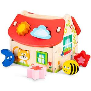[Amazon Prime] New Classic Toys Sortierspiel-Haus-8 Steine