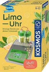 KOSMOS Limo-Uhr, Erzeuge Strom aus Limonade, Uhr mit Batterie selbst bauen, Experimentierset für 6,59€ (Amazon Prime & Thalia)