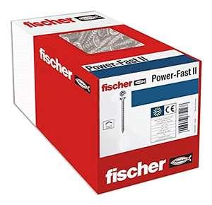 Fischer 100 x Spanplattenschraube Power-Fast II 3,0X25, Senkkopf mit Kreuzschlitz Vollgewinde, verzinkt (Art-Nr 670032) - Amazon Prime
