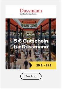 [Vattenfall myHighlights] 5€ Gutschein Dussmann von 25.08. bis 06.09.21