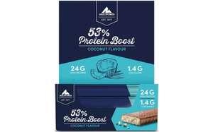 Jetzt ab 2 Kisten richtig günstig! 53% Protein Boost á 20X45G RIEGEL pro Kiste, Coconut 24 g Eiweiß + 1,6 g Zucker je Riegel MHD 11/21!