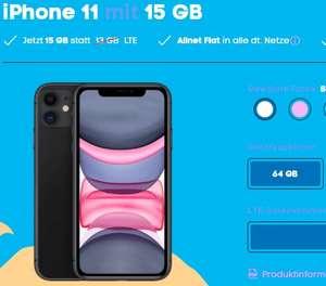 iPhone 11 64GB + 15GB LTE Tarif (30,99€/Monat) [727,75 mit shoop]