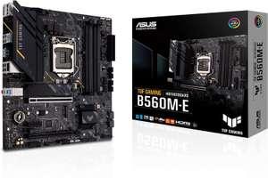 ASUS TUF Gaming B560M-E Mainboard (Intel LGA 1200, RGB Aura Sync, Micro ATX PCIe 4.0, 2X M.2, LAN 2.5Gb, DP 1.4, HDMI, USB 3.2 Gen 2 Type-C)
