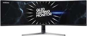 "Samsung LC49RG90SSRXXU 49"" Dual WQHD Curved Gaming-Monitor (VA, 5120x1440, 120 Hz, AMD FreeSync Premium Pro, DisplayHDR 1000, VESA)"