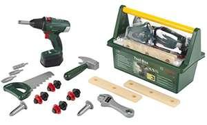 Theo Klein Bosch Werkzeug-Box, mit Hammer, Säge, Rollgabelschlüssel & vielem mehr inkl. Akkuschrauber für 19,99€ (Amazon Prime)