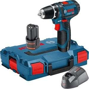 Bosch GSR 12V-15 Professional 2 x 3,0 Ah + Ladegerät + L-Boxx