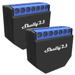 2x Shelly 2.5 Schaltaktoren für 34,98€ inkl Versand (17,49€ pro Stk.)