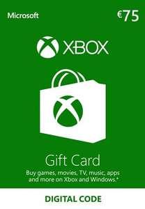 75€ Xbox Live Guthaben für 65,48€ (Microsoft Store Deutschland, Faktor 0,87)