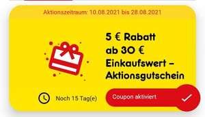 Netto MD - 5 € Gutschein mit 30 € Mindesteinkaufswert in der Netto App (personalisiert?)