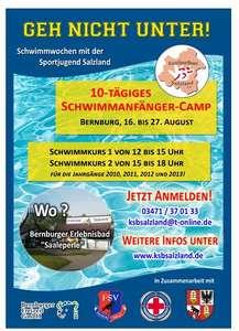 """Kostenloses Schwimmanfänger-Camp """"Geh nicht unter!"""" der Sportjugend Salzland"""