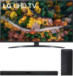LG Brand Week KW33 bei Saturn - z.B. LG 75UP78009LB LCD TV (Flat, 75 Zoll / UHD 4K, SMART TV, webOS 6.0 mit LG ThinQ) + LG DSN4 Soundbar