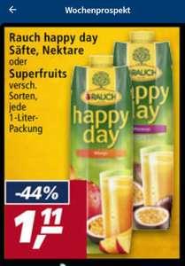 HAPPY DAY von rauch köstliche Säfte, Nektare etc im real-markt für nur 1,11€ die Ein Liter Packung